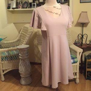 Ronni Nicole 16 Shell color, Pearled sleeve Dress